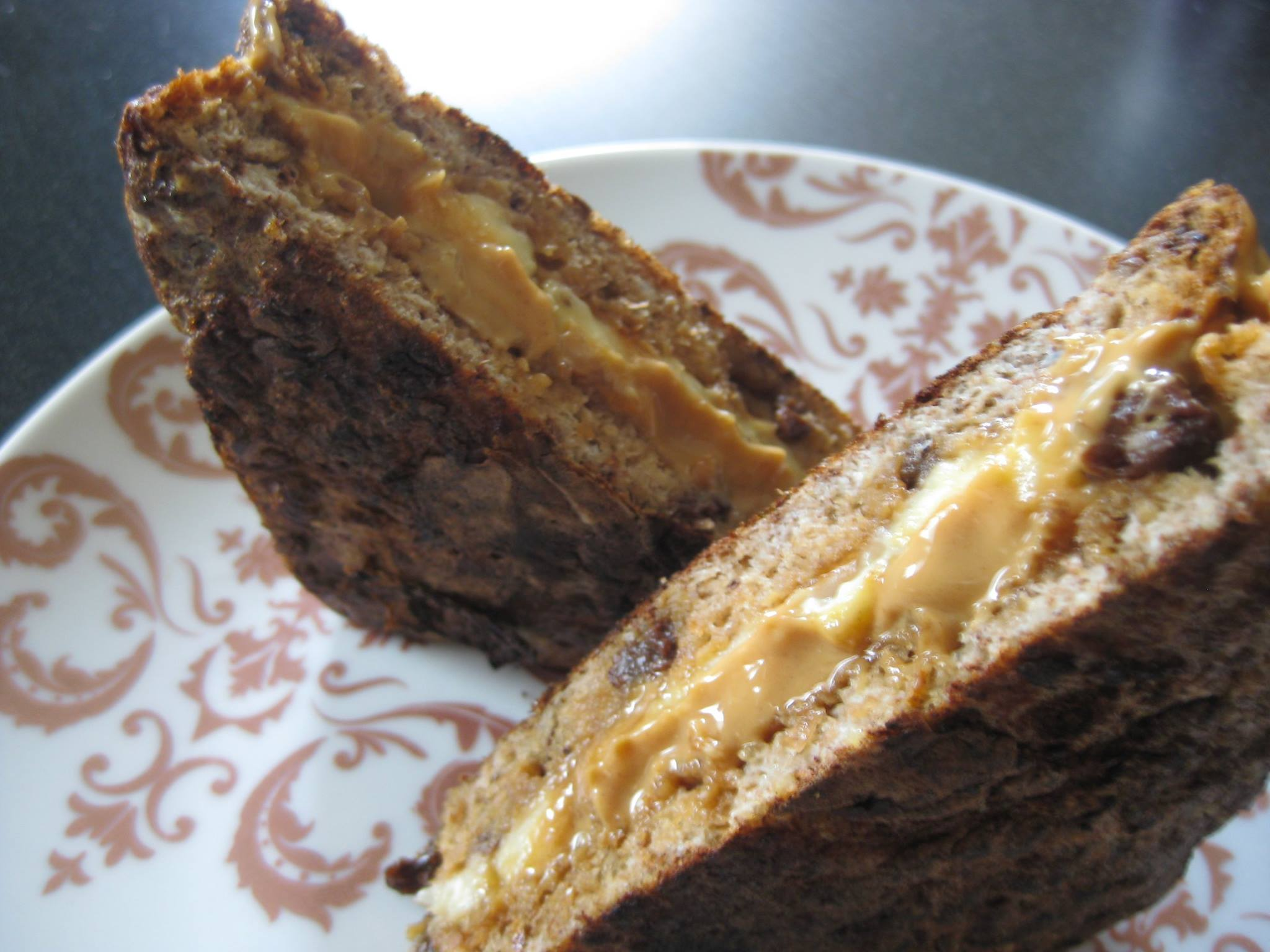 Stuffed Cinnamon Raisin Ezekiel Bread French Toast | Nut Zez