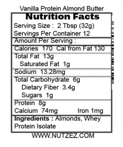 Vanilla Protein Almond Facts