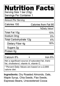 Energy Bar Nutritional Facts